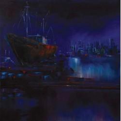 Nuit sur le chantier de Radoub