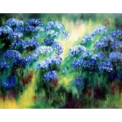 Les hortensias bleux